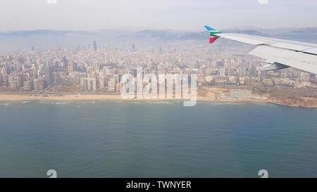 Vista aerea della città di Beirut. Libano - Giugno, 2019 Foto Stock