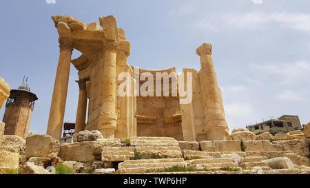 Il Tempio di Venere. Le rovine della città romana di Heliopolis o Baalbek nella valle Beqa. Baalbek, Libano - Giugno, 2019 Foto Stock
