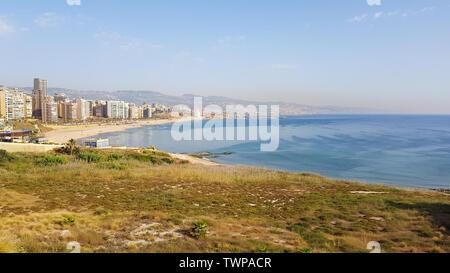 Vista la Corniche, Beirut. Libano - Giugno, 2019 Foto Stock