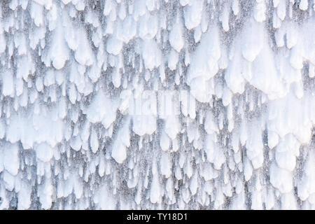 Vento-neve soffiata patterns, tardo inverno tempesta di neve, Nord America Orientale, da Dominique Braud/Dembinsky Foto Assoc Foto Stock