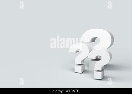 Punti interrogativi sullo sfondo Foto Stock