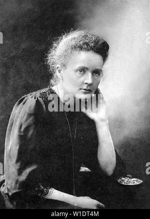 MARIE CURIE (1867-1934) Polish-French fisico e chimico Foto Stock