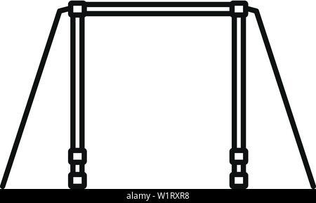 La barra orizzontale e la relativa icona. Schema della barra orizzontale icona vettoriali per il web design isolato su sfondo bianco Foto Stock
