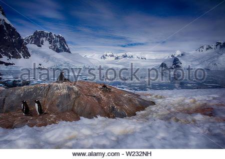 L'Antartide paesaggio, Peterman Island, Penisola Antartica Foto Stock