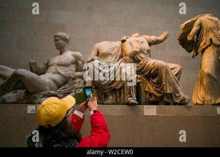 Inghilterra, London, Bloomsbury, il British Museum, sculture del Partenone anche sapere come i marmi di Elgin