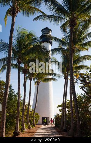 Stati Uniti d'America, Florida Miami-area, Key Biscayne, Bill Baggs Florida State Park, Cape Florida LIghthouse Foto Stock