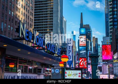 Times Square Manhattan, New York, New York, Stati Uniti d'America Foto Stock