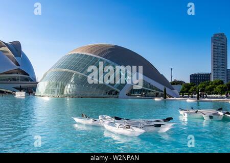 Planetarium, Ciudad de las artes y las Ciencias, Città delle Arti e delle Scienze di Valencia, Spagna, Europa.
