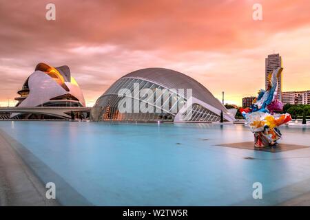 Città delle Arti e delle scienze o Ciudad de las Artes y las Ciencias, Valencia, Comunidad Valenciana, Spagna