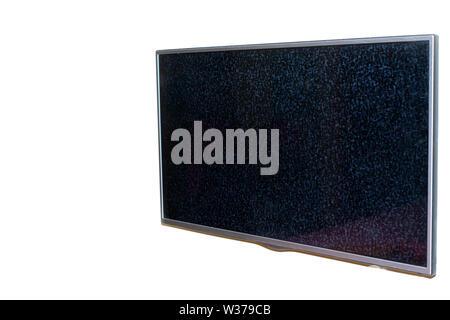 Nessun segnale al monitor,rumore statico cattivo segnale tv in bianco e nero Foto Stock