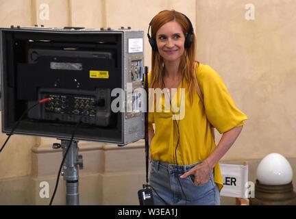 Direttore Fiona Ziegler ha girato un Swiss-Czech road movie perduta nel paradiso a Praga Repubblica Ceca, luglio 15, 2019. . Attori DOMINIQUE JANN e HANA VAGNEROVA (nella foto) svolgono ruoli principali. Foto Stock