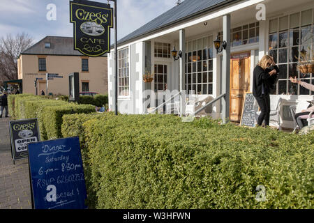 Richmond in Australia. Local coffee shop e caffetteria in questa città storica sulla tasmanian trail trusty,Tasmania, Australia Foto Stock