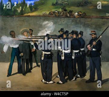 Edouard Manet, l'esecuzione dell'Imperatore Massimiliano, pittura, 1868 Foto Stock