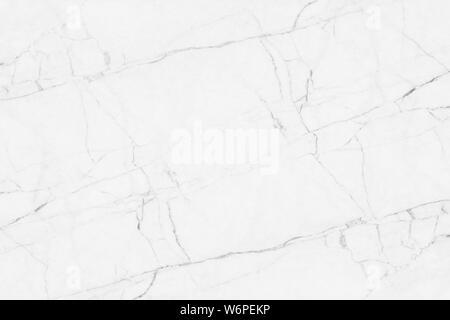 Vero marmo bianco texture di superficie bianco grigio , bianco superficie di marmo Sfondo piastrelle per la decorazione o il disegno di sfondo Foto Stock