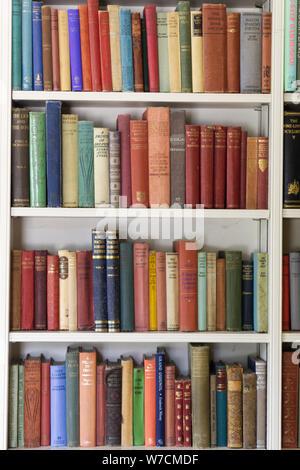 Scaffale pieno di vecchi libri vintage