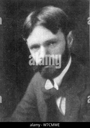 DH (David Herbert Lawrence) (1885-1930), romanziere inglese e poeta, (c1910s?). Artista: sconosciuto