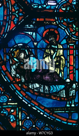 St James appare a Carlo Magno in un sogno, vetrate, la cattedrale di Chartres, Francia, c1225. Artista: sconosciuto