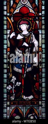 Vetrata di St Alban nella cattedrale di Hereford, 3° secolo. Artista: sconosciuto