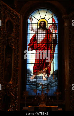 Cristo, vetrate, St Isaac, San Pietroburgo, Russia, 2011. Artista: Sheldon Marshall