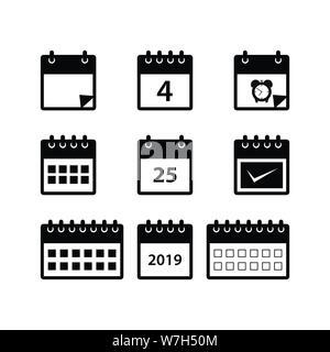 Simbolo De Calendario.La Linea Del Calendario Icona Simbolo Di Design