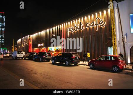 Notte alla città di Beirut, Libano Foto Stock