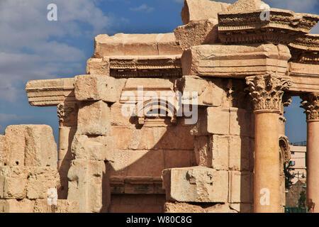 Tempio di Venere in Baalbek, Libano Foto Stock