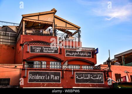 Residence La Place Jemaa El Fnaa, Marrakech, Marocco Foto Stock