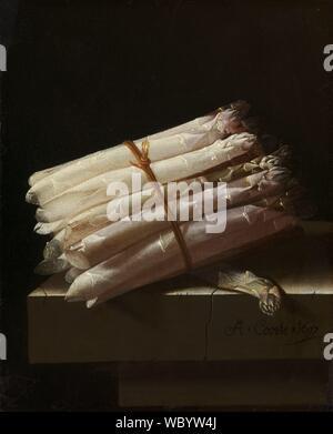 Ancora in vita con asparagi, Adriaen Coorte, 1697.jpg - WBYW4J Foto Stock