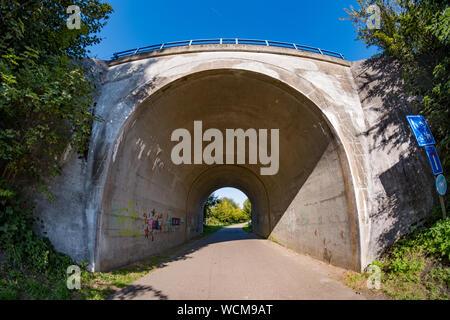 Ampia visione del tunnel Foto Stock