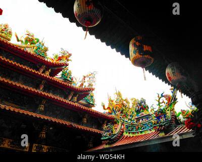 Vista del tetto del tempio Foto Stock