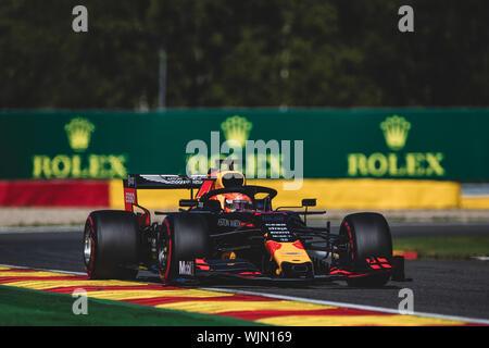 #33, Max Verstappen, NED, Red Bull, in azione durante il Gran Premio del Belgio a Spa Francorchamps