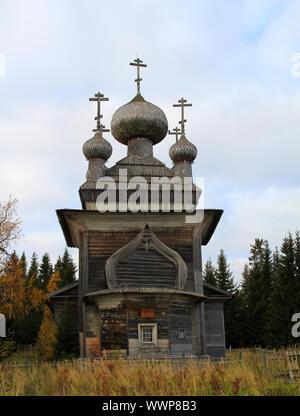 Russo antica chiesa in legno Foto Stock