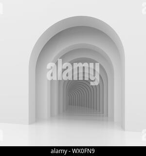 3d immagine di sfondo architettonico con archi