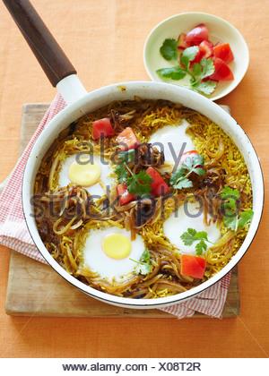 Pan di uova di riso e pomodoro Foto Stock