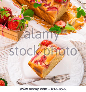 Torta di fragole Foto Stock
