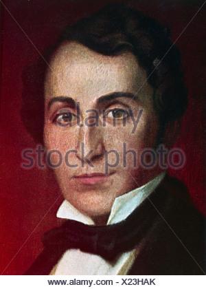 Lortzing, Albert, 23.10.1801 - 21.01.1851, del compositore tedesco, ritratto, secolo XIX, Additional-Rights-giochi-NA Foto Stock