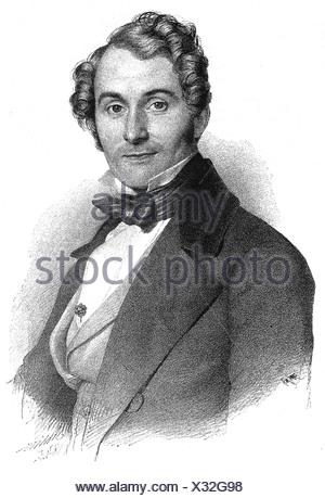Lortzing, Albert, 23.10.1801 - 21.01.1851, del compositore tedesco, ritratto, incisione su legno, secolo XIX, Additional-Rights-giochi-NA Foto Stock