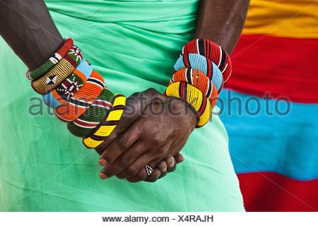 Samburu Riserva nazionale del Kenya due Samburu warriors nel Samburu Riserva nazionale Foto Stock