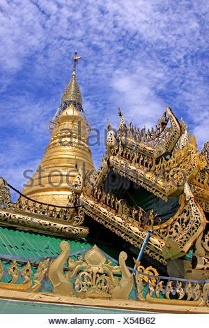 Pagoda,myanmar,Birmania,l'oro,shwedagon,Birmania,yangon,rangoon Foto Stock