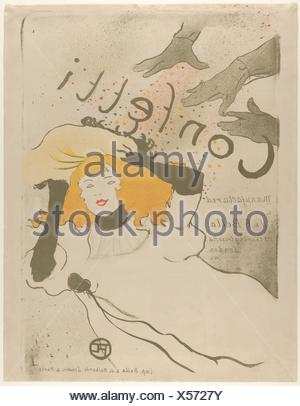 Coriandoli. Artista: Henri de Toulouse-Lautrec (francese, Albi 1864-1901 Saint-André-du-Bois); data: 1894; mezzo: litografia stampato in tre colori Foto Stock