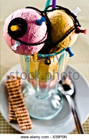Concetto di cibo, fake gelato Gelato fatto da articoli per la casa Foto Stock