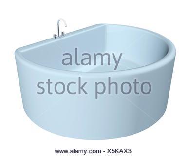 Vasca Da Bagno White : White semi circolare vasca da bagno moderno con attrezzature in