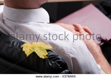 Bloccato in foglia di imprenditore il presidente Foto Stock