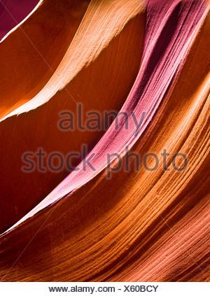 Lisce pareti del canyon Foto Stock