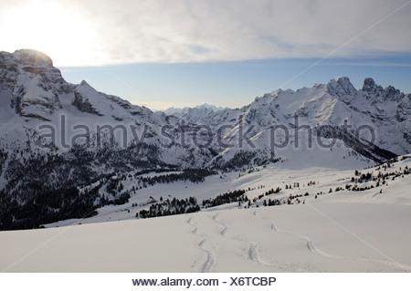 Sci alpinismo, Mt. Duerrenstein, Alto Adige, Italia, Europa Foto Stock