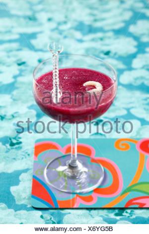 Lampone-litchi smoothie Foto Stock