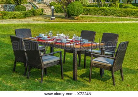 Sedie E Tavoli Da Giardino In Vimini.Il Rattan Tavolo E Sedie Da Giardino Con Acqua Resistente