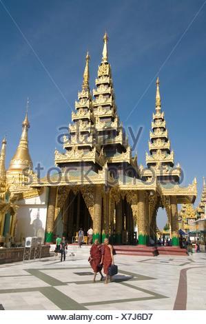 Shwedagon Paya, Yangon (Rangoon), Myanmar (Birmania) Foto Stock