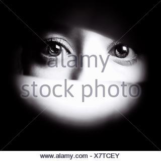 Dettaglio degli occhi umani Foto Stock