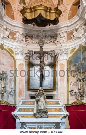 Chiesa di san Giovanni Battista, Monterosso al mare e le cinque terre, Italia. Foto Stock